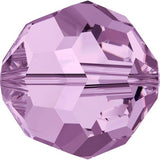5000-4-aml Swarovski Crystal 4mm Round Light Amethyst Beads (Package of 24 Beads)