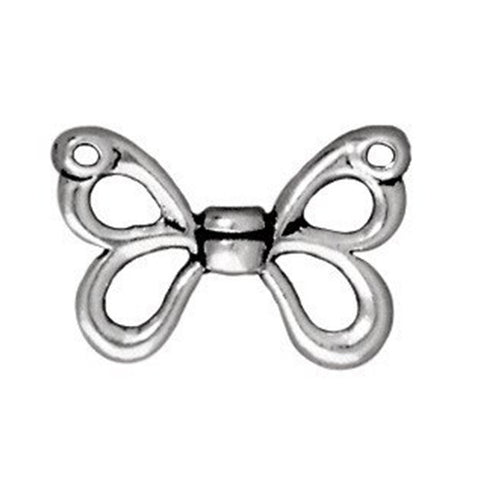 0581-btf11x15-sp Silver Plated Butterfly Wings Bead (Package of 2 beads)