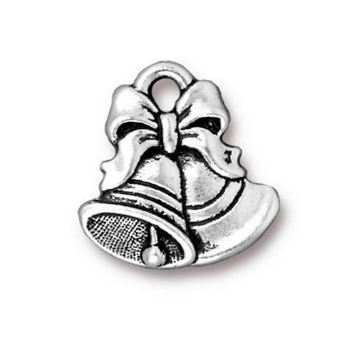 0579-bells-sp Silver Plated Christmas Bells Charm (Package of 1 Charm)