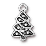 0579-tree-sp Silver Plated Christmas Tree Charm (Package of 1 Charm)