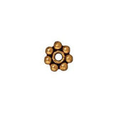 0531-4-go TierraCast Gold Plated 4mm Daisy Spacer Beads (Package of 25 beads)