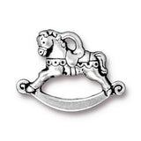 0579-horse-sp Silver Plated Rocking Horse Charm (Package of 1 Charm)