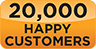20,000 happy customers