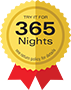 Try it for 365 nights – free returns
