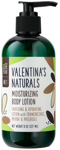 No. 1: Natural Body Lotion: Sacred Incense, 8 0z