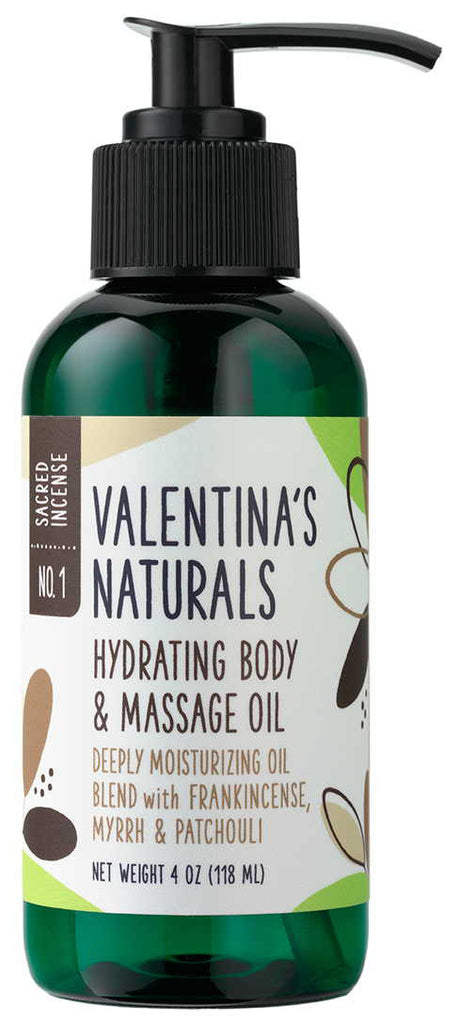 No. 1: Hydrating Body & Massage Oil, Sacred Incense, 4 oz