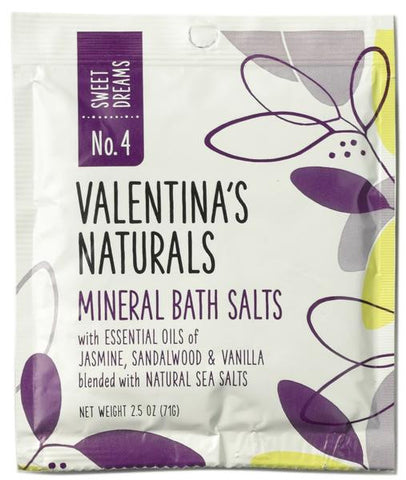 No. 4: Single Serve Mineral Bath Salts, Sweet Dreams, 2.5 oz