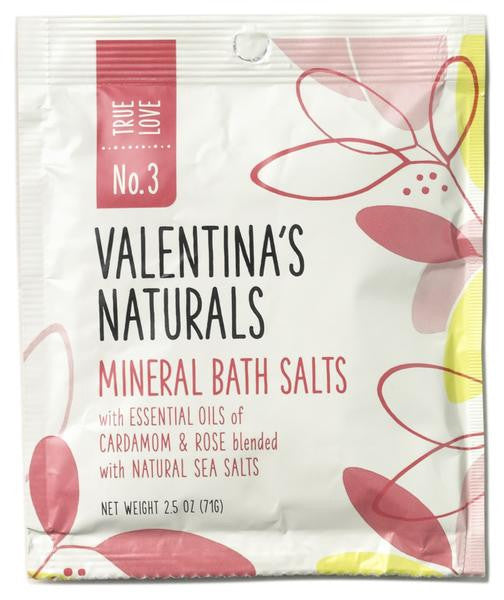 No. 3: Single Serve Mineral Bath Salts, True Love, 2.5 oz