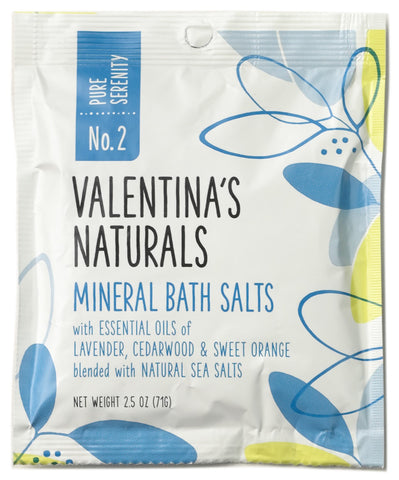 No. 2: Single Serve Mineral Bath Salts, Pure Serenity, 2.5 oz