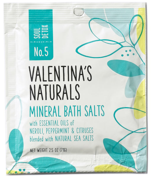 No. 5: Single Serve Mineral Bath Salts, Soul Detox, 2.5 oz