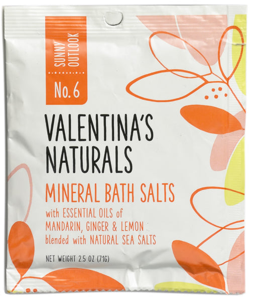 No. 6: Single Serve Mineral Bath Salts, Sunny Outlook 2.5 oz