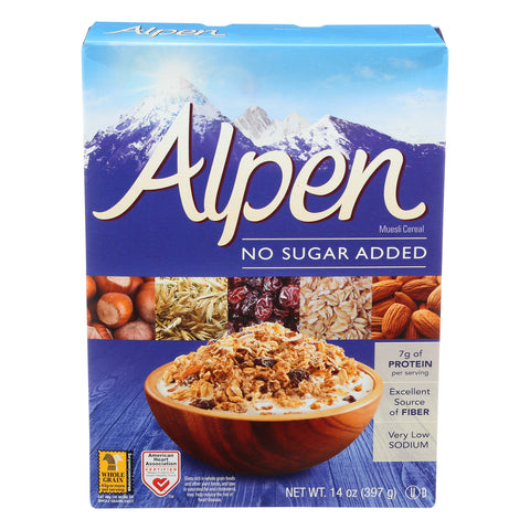 Alpen No Added Sugar Muesli Cereal - Case of 1 - 14 oz.