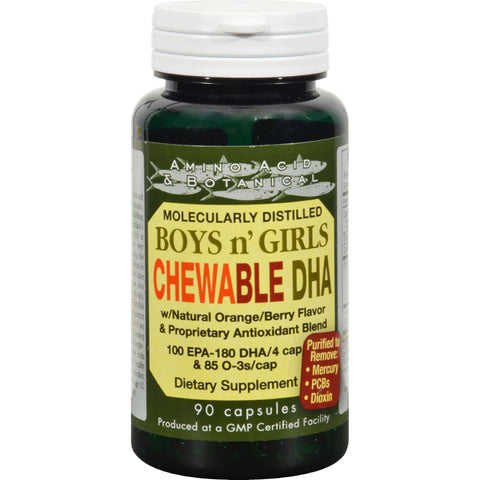 Amino Acid and Botanical Boys n' Girls Chewable DHA - 90 Caps