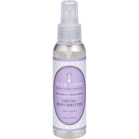 Deep Steep Dry Oil Body Spritzer - Lavender Chamomile - 4 oz