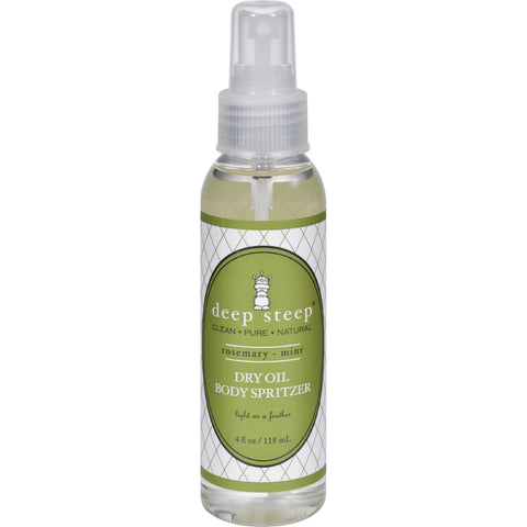 Deep Steep Dry Oil Body Spritzer - Rosemary Mint - 4 fl oz