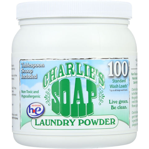 Charlies Soap Laundry Detergent - 100 Loads - Powder - 2.64 lb - case of 6