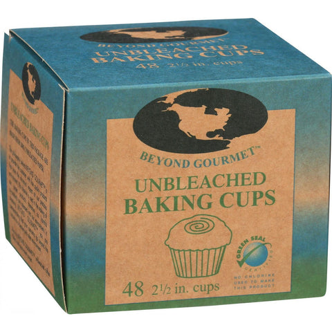 Beyond Gourmet Baking Cups - Large 2.5 in - Unbleached - 48 Count