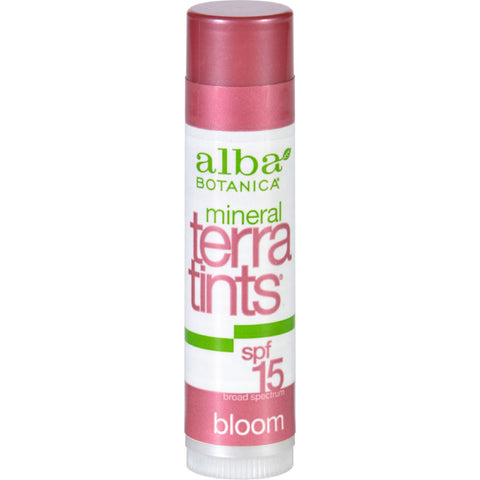 Alba Botanica Bloom TerraTints Lip Balm SPF 8 - Case of 12 - .15 oz