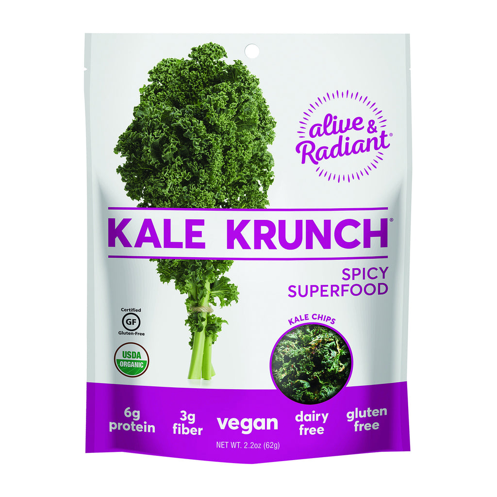 Alive and Radiant Kale Krunch - Spicy Superfood - Case of 12 - 2.2 oz.