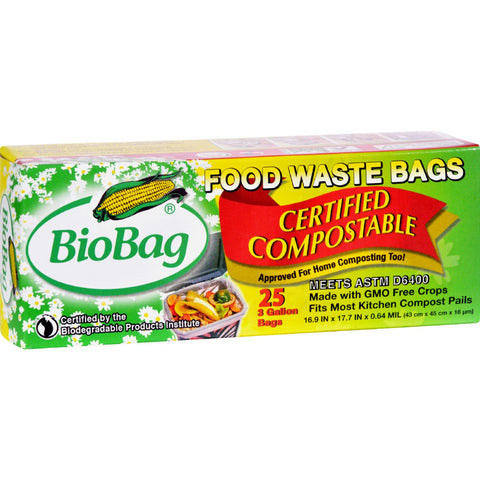 BioBag 3 Gallon Compost/Waste Bags - 25 Count