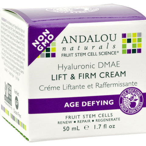 Andalou Naturals Age-Defying Hyaluronic DMAE Lift and Firm Cream - 1.7 fl oz