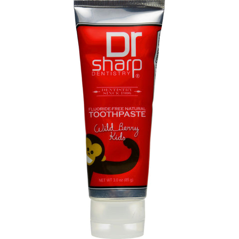 Dr. Sharp Natural Oral Care Toothpaste - Kids Wild Berry Flouride Free - 3 oz