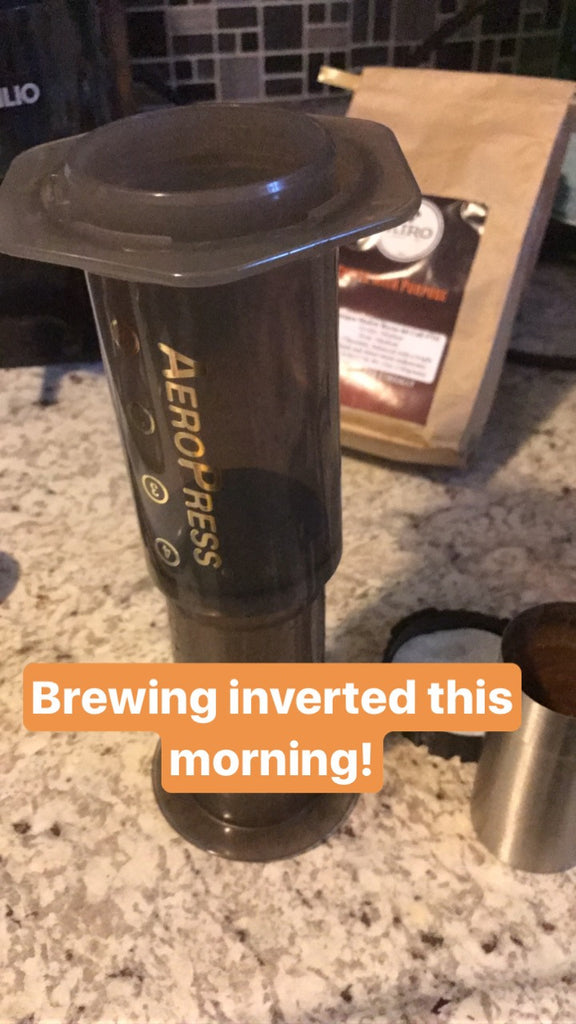 My First Go With the Inverted Aeropress Coffee Brewer