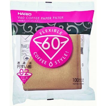 Hario V60 02 Pour Over Coffee Filters (100 Quantity)