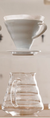 Hario V60 Coffee Sever v60 with Glass Carafe with 100 Filters