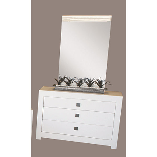 Arctic High Gloss White Dressing Table and Mirror