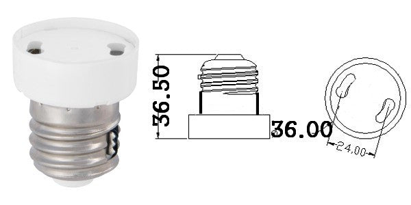 GU24 ADAPTER SOCKET WITH LOCK