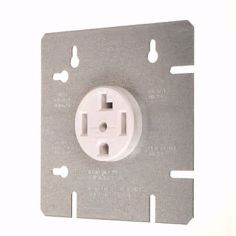 1167-2 Dryer Outlet With Device Box Cover Plate