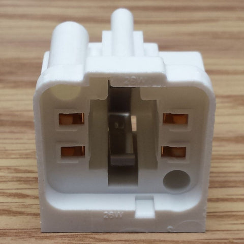 Compact flourescent replacement socket  side mount