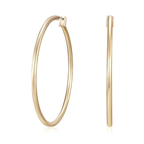 Golden Kira Hoop Earrings