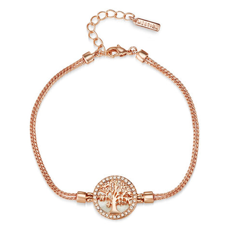 Rose Gold Maple Tree of Life Bracelet