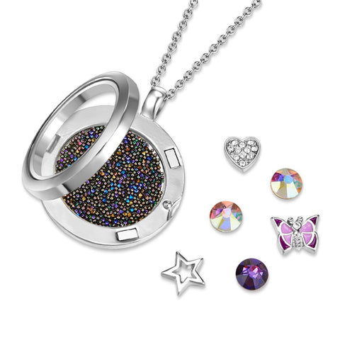 Butterfly Dance Floating Charm Necklace