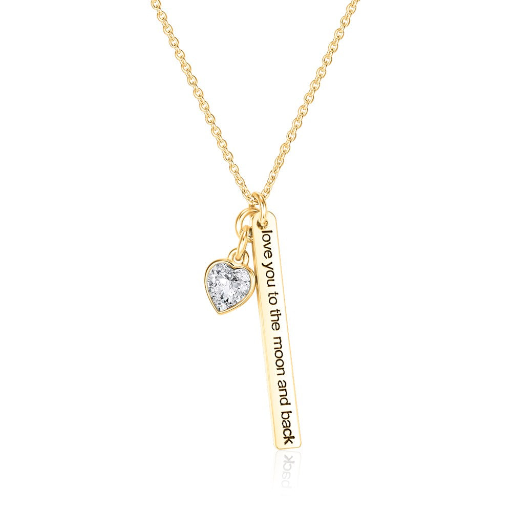 Gold Love to the Moon Necklace