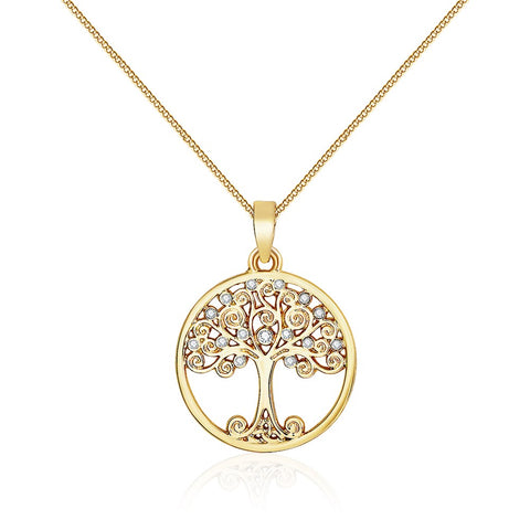 Gold Enlightened Tree Of Life Necklace