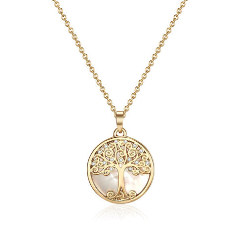 Gold Willow Tree of Life Necklace