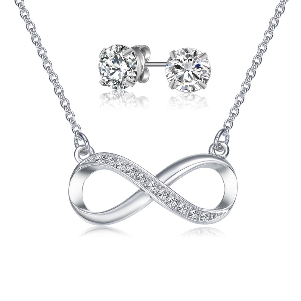 Infinity Necklace & Earring Set