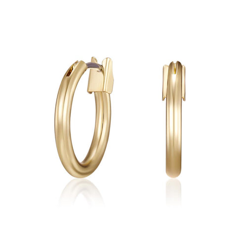 Golden Tatum Hoop Earrings