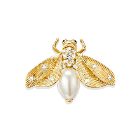 Golden Firefly Brooch