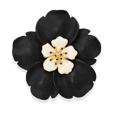 Black Buttercup Brooch