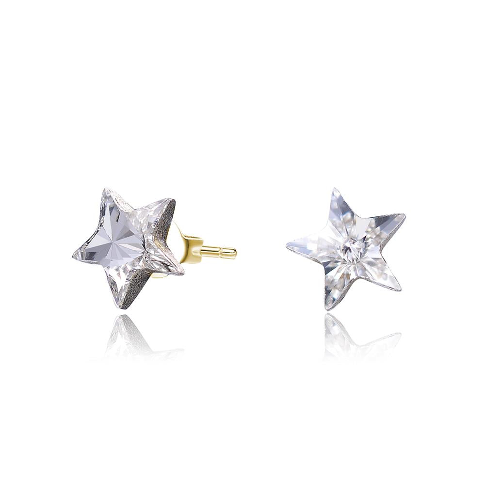 Tickled Pink Gold Starlight Earrings