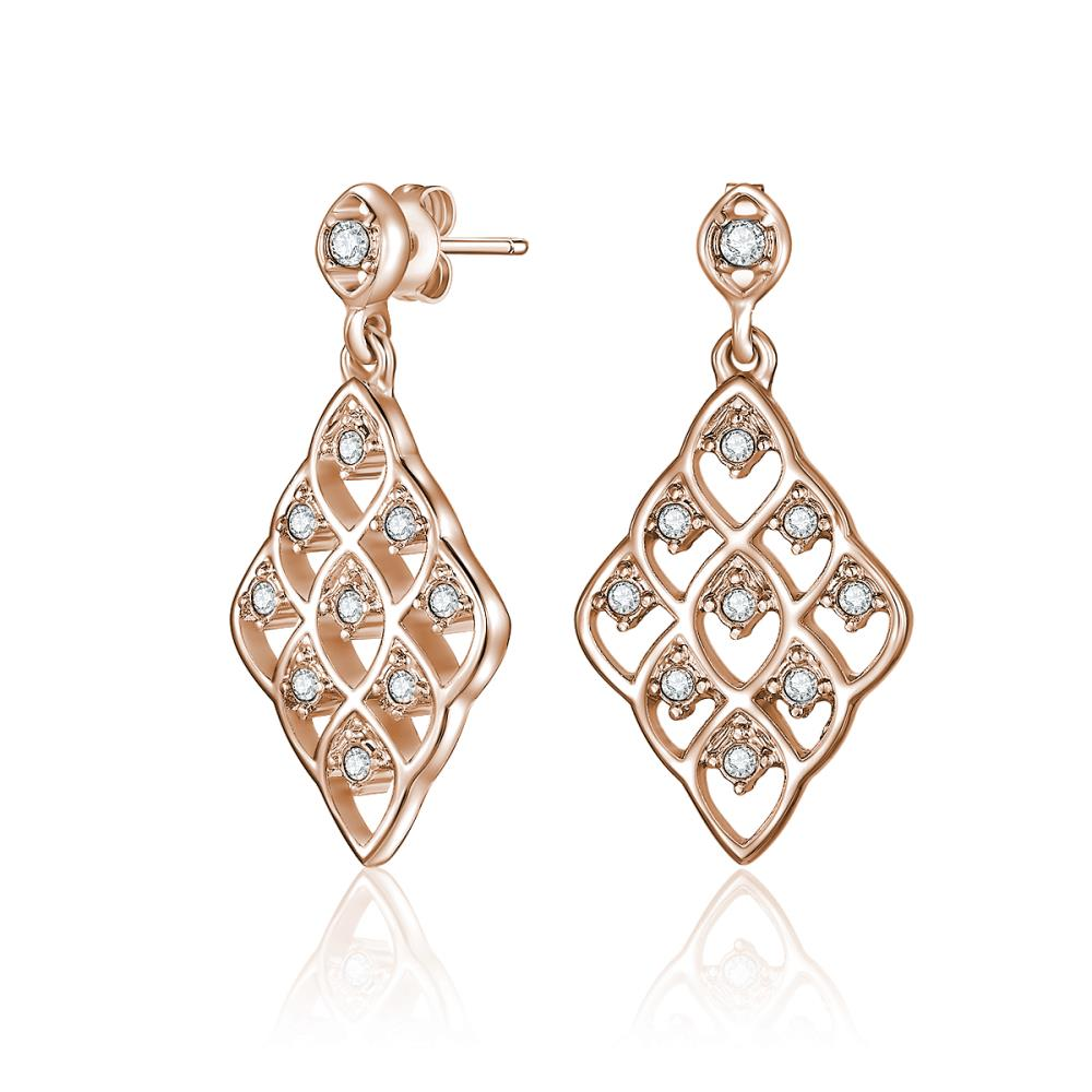 Rose Gold Dahlia Earrings
