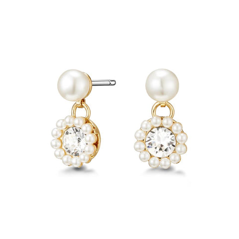 Golden Alora Freshwater Pearl Earrings