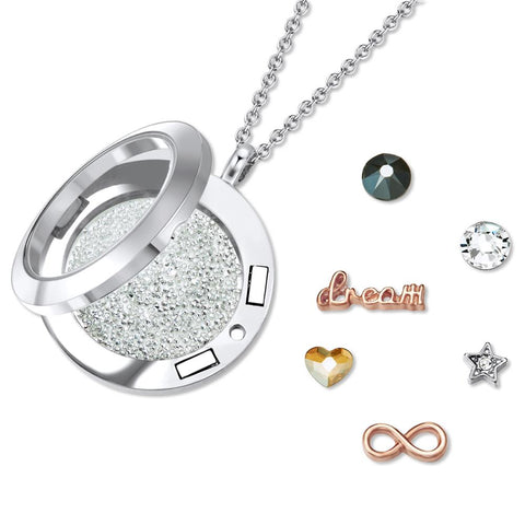 Infinite Dreams Dual Floating Charm Necklace
