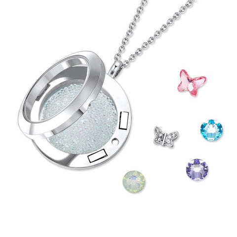 Butterfly Abode Floating Charm Necklace