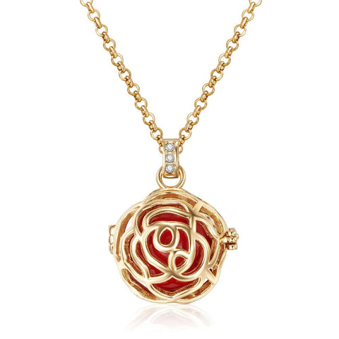 Gold Rose Bud Necklace