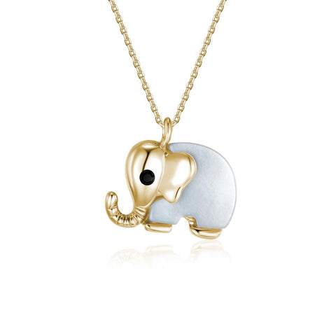 Queen of the Jungle Gold Elephant Necklace